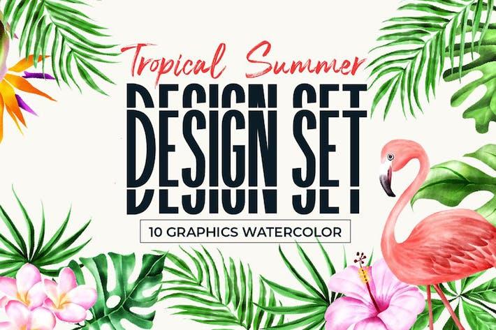 Thumbnail for Tropical Summer Design Set