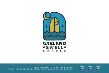 Custom Surfboard Logo - TW