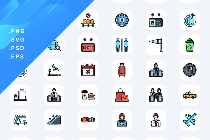 50 Airport Icons