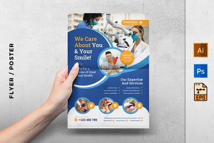 Dental clinic flyer