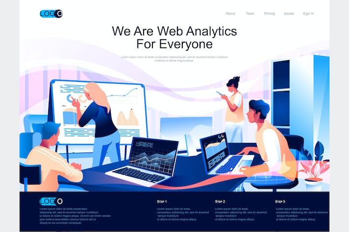 Thumbnail for Web-Analytics-Vorlage für isometrische Zielseiten
