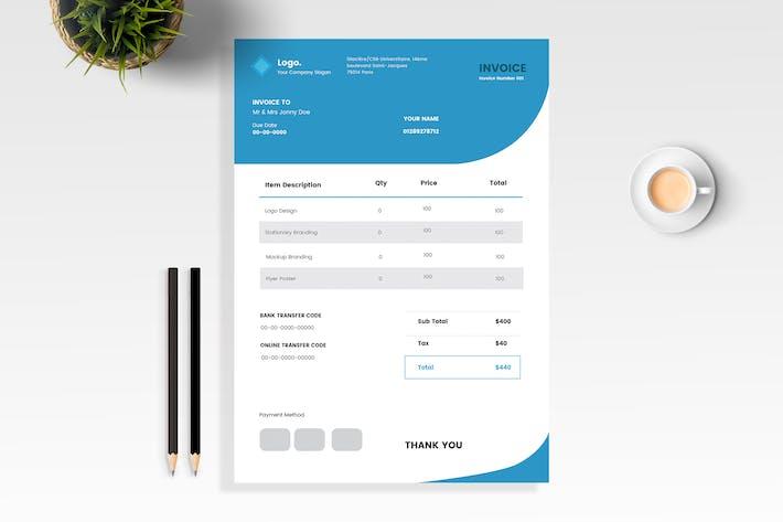 Thumbnail for Синий минимальный дизайн счета-фактуры