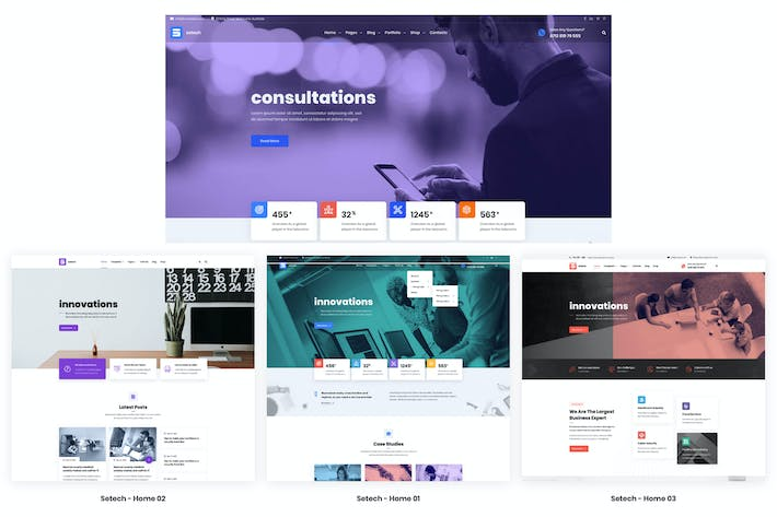 Thumbnail for Setech IT Services and Solutions HTML Template