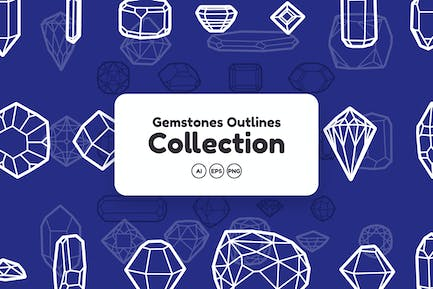 Gemstones Outlines Collection