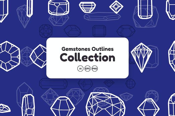 Thumbnail for Colleción de piedras preciosas Outlines