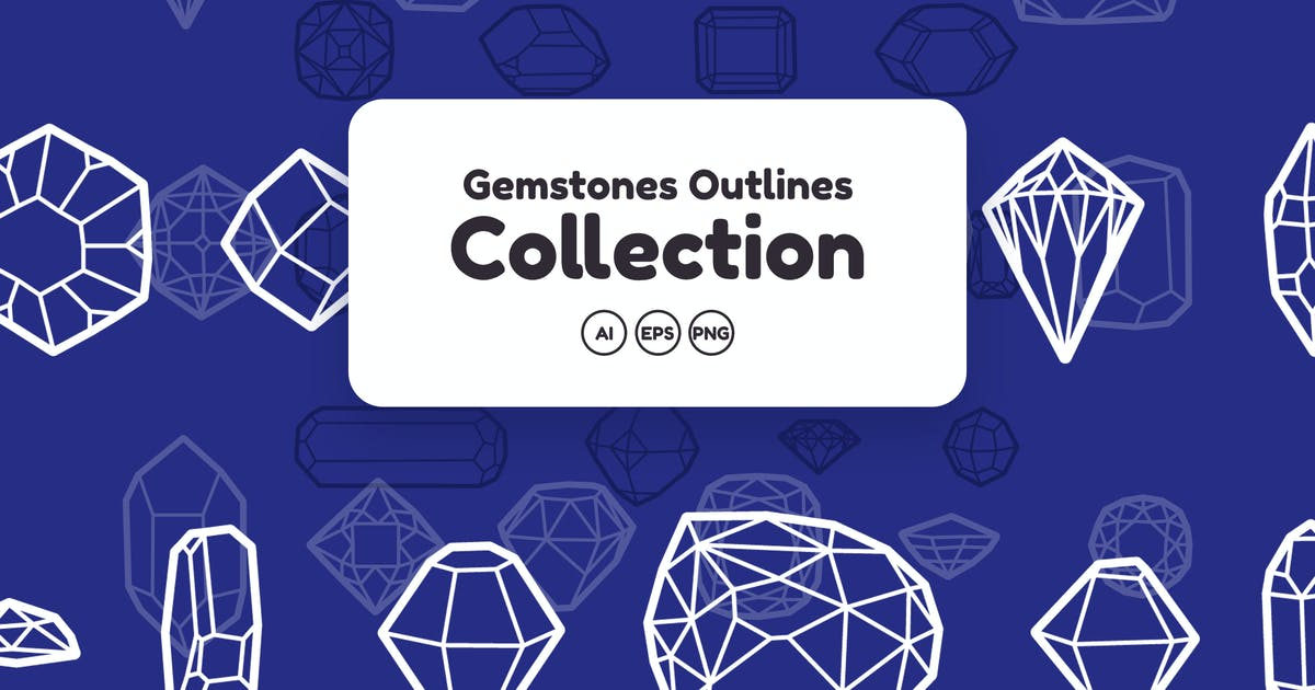 Download Gemstones Outlines Collection by YummyDs