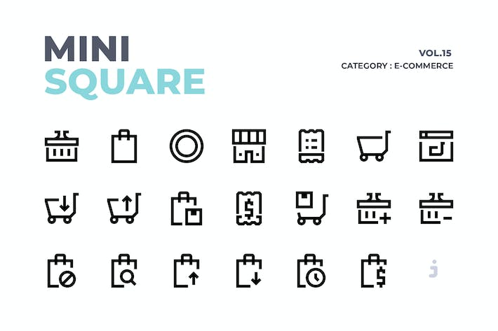 Thumbnail for Mini square - 60 E-Commerce Icons