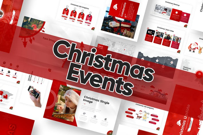 Thumbnail for Рождественские события Powerpoint Шаблон