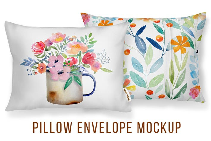 Cover Image For Envelope Cushion Mockup