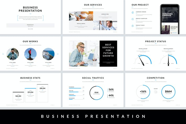 Thumbnail for Business Presentation PowerPoint Template