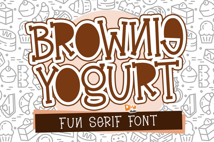 Thumbnail for Brownie Yogurt - Fun Serif Font