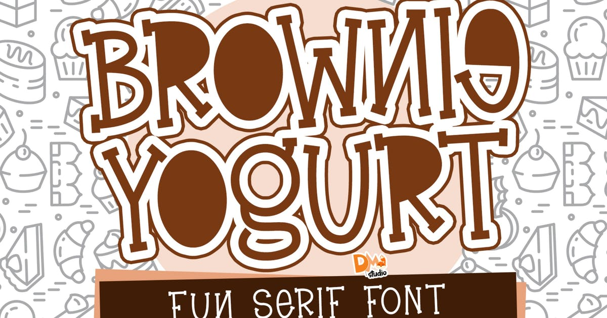 Download Brownie Yogurt - Fun Serif Font by DmLetter
