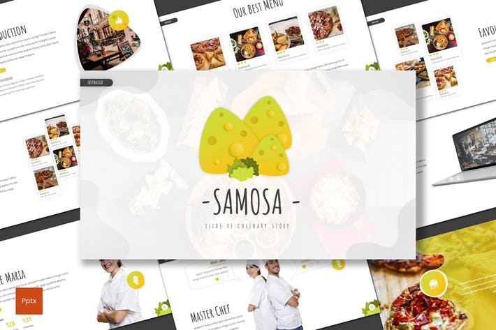 Thumbnail for Samosa - Culinary Powerpoint Template
