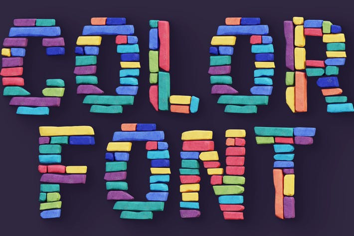 Thumbnail for Color Bricks - Color SVG Font