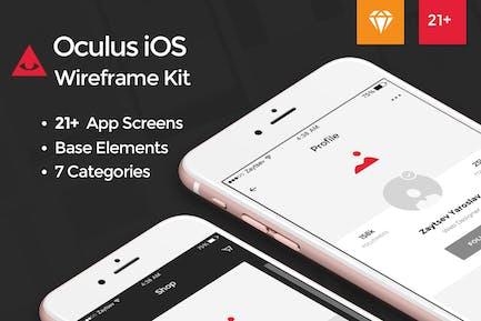 Oculus iOS Wireframe UI Kit