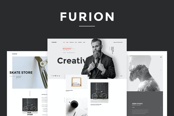 Thumbnail for Furion - Creative PSD Template