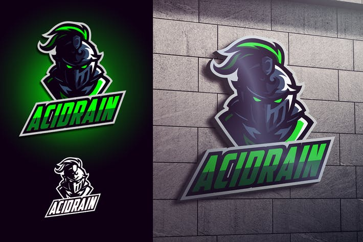 Thumbnail for Luminous Knight Mascot Esports Logo