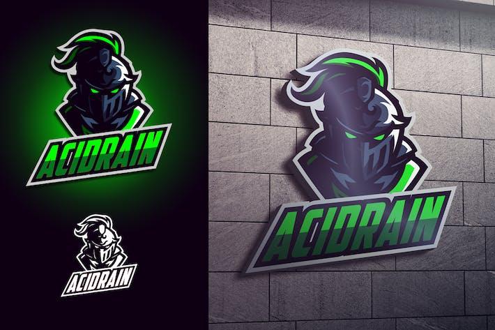 Thumbnail for Luminous Knight Mascot Esports Logo