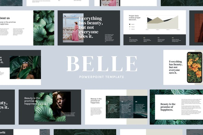 Thumbnail for Belle - Moderne Powerpoint-Vorlage