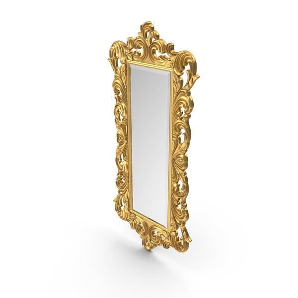 Thumbnail for Baroque Carved Mirror Golden tall