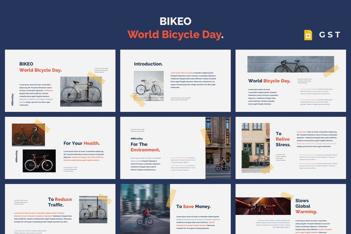 Thumbnail for BIKEO - World Bicycle Day Google Slides Template