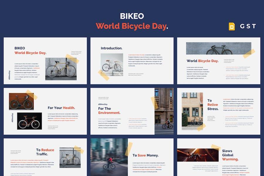 BIKEO - World Bicycle Day Google Slides Template