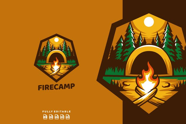 Fire Camp Emblem Logo