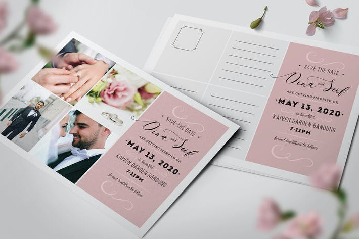 Thumbnail for Simple Collage Wedding Invitation