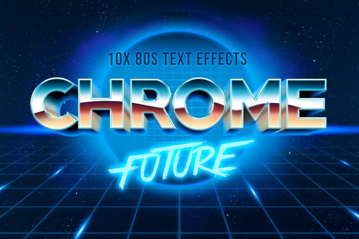 Thumbnail for 80s Text Effect V3