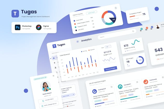 Tugas - Project Management Admin Dashboard