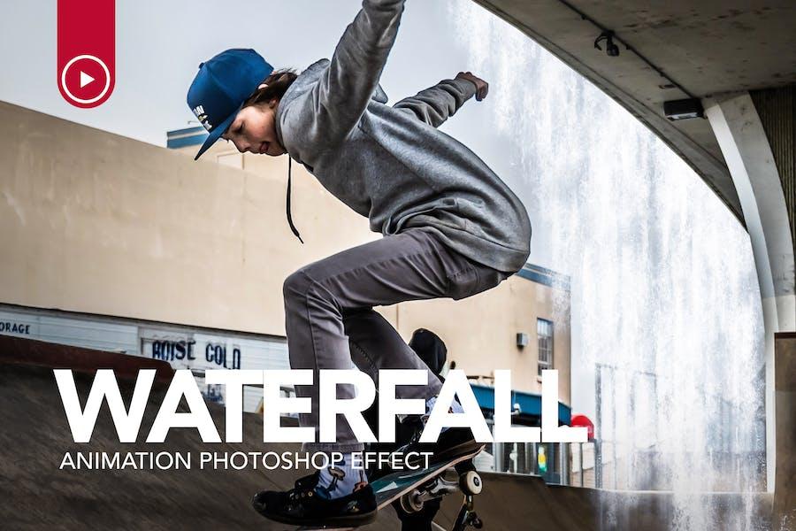 Gif Animated Waterfall Photoshop Action