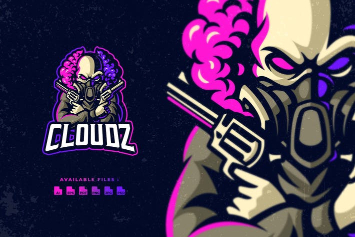 Thumbnail for Cloud Skull Esport Logo