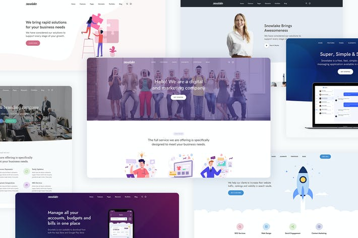 Thumbnail for Snowlake - Creative Business & Startup Template