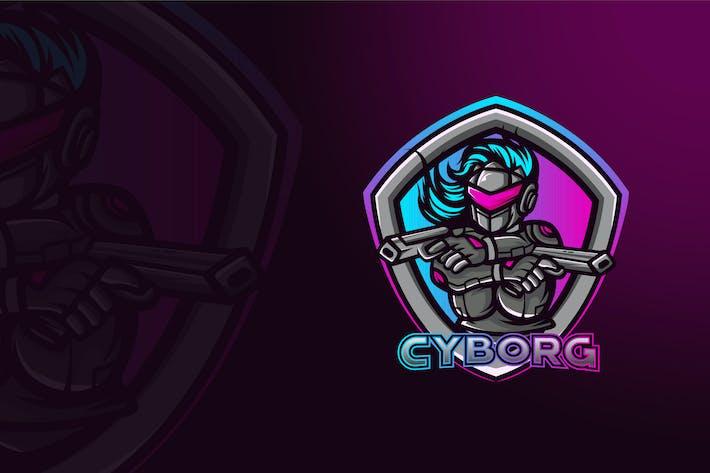 Thumbnail for CYBORG MASCOT LOGO TEMPLATE