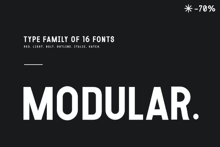 Thumbnail for MODULAR 16 FONTS