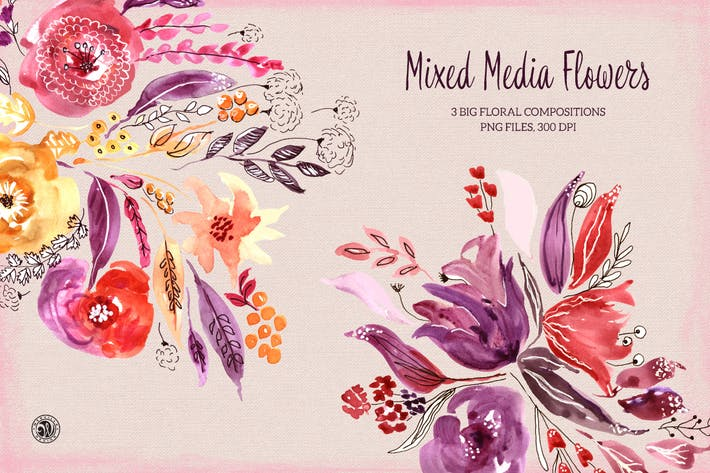 Thumbnail for Mixed Media Flowers
