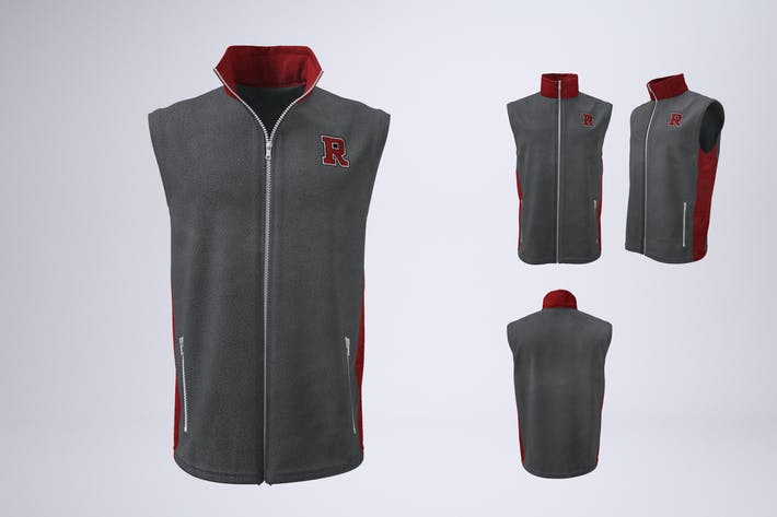 Vest or Sleeveless Jacket Mock-Up