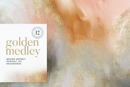 Golden Medley Modern Abstracts