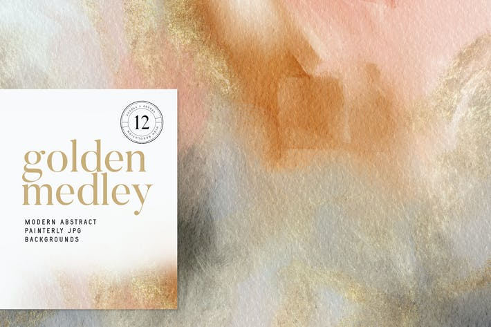 Golden Medley Modern Abstracts