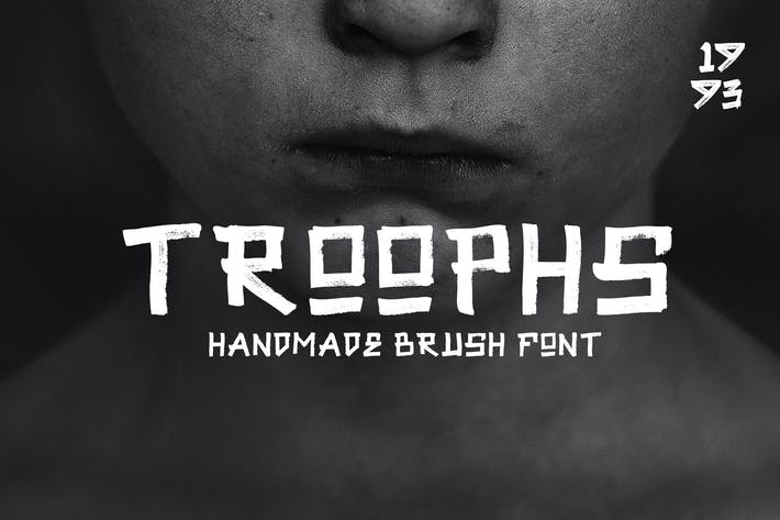 Thumbnail for Troophs - Brush Fonts