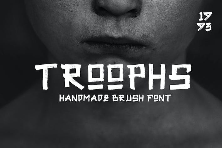 Troophs - Brush Fonts
