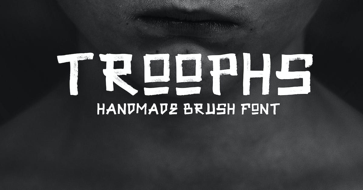 Download Troophs - Brush Fonts by micromove
