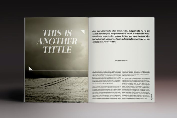 Thumbnail for Melville Magazine Indesign Template