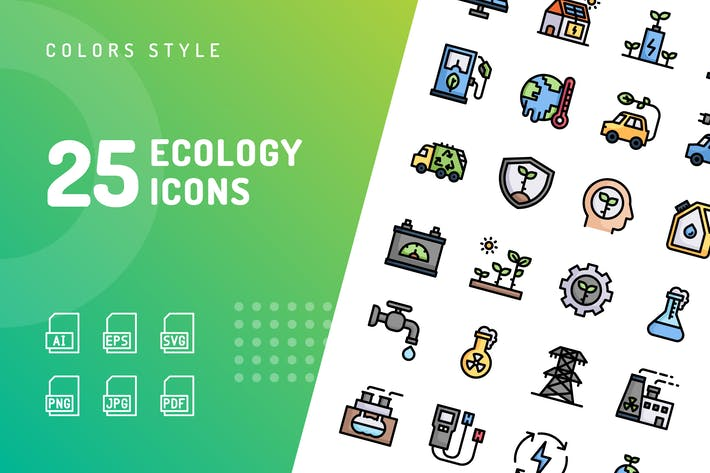 Thumbnail for Ecology Color Icons