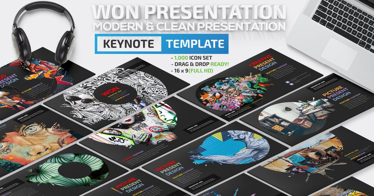 Download Won Keynote Template by mamanamsai