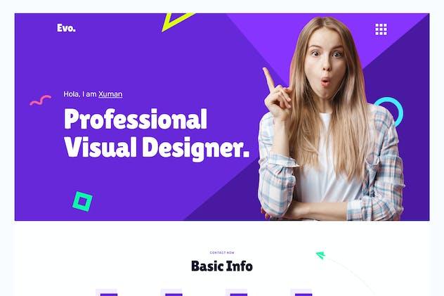 Evos - Creative Portfolio PSD Template