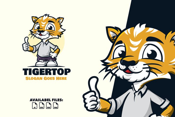 Thumbnail for Tiger Lead - Logo Mascot