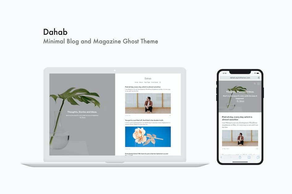 Download Dahab - Minimal Blog and Magazine Ghost Theme by aspirethemes