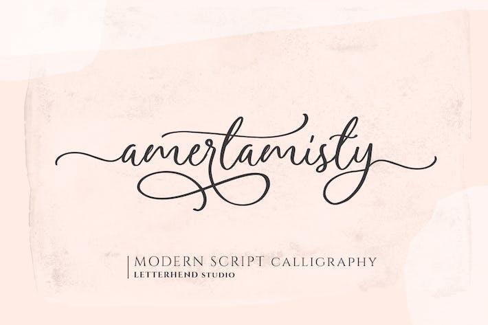 Thumbnail for Amerta Misty Script