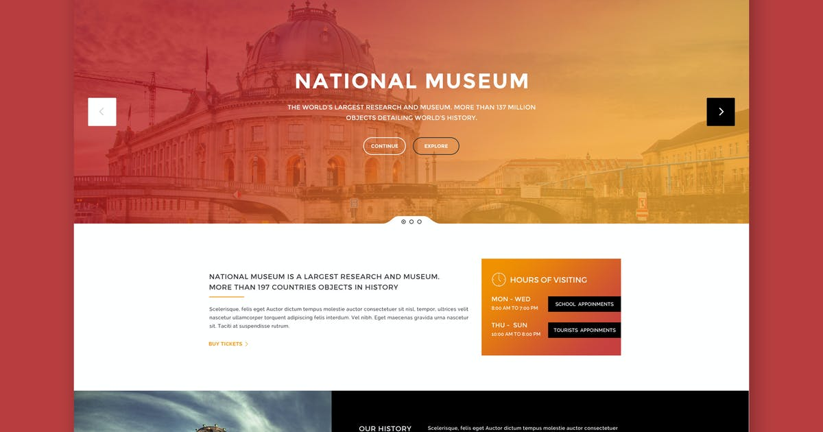 Download Museum - Premium HTML Template by PremiumLayers